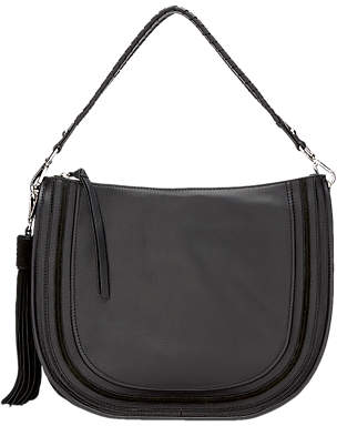 at John Lewis and Partners · Mint Velvet Tina Leather Whipstitch Hobo Bag 42e8f33abb658