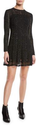 M Missoni Mini-Sequin Long-Sleeve Dress