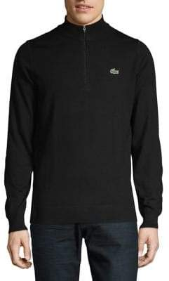 Lacoste Half-Zip Wool Sweater