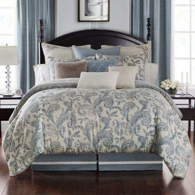 Buy Florence Reversible Queen Duvet Cover Set in Chambray!