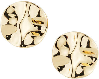 Lydell NYC Hammered Round Stud Earrings