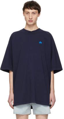 Acne Studios Blue Bla Konst Bassetty Badge T-Shirt
