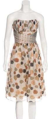 Anna Sui Strapless Polka Dot Dress