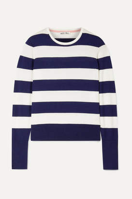 Alex Mill Striped Cotton-blend Sweater - Navy