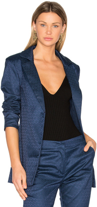 House of Harlow x REVOLVE Jean Blazer $210 thestylecure.com