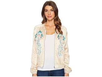 Blank NYC Embroidered Jacket in Pink Lady Women's Coat