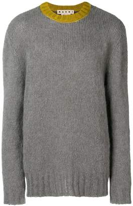 Marni Heavy contrast-collar jumper