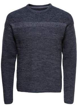 ONLY & SONS Textured Crewneck Sweater
