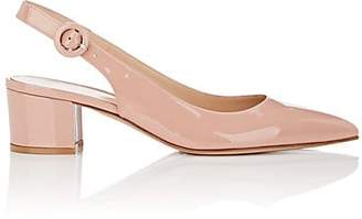 Gianvito Rossi Women's Amee Patent Leather SIingback Pumps - Pink