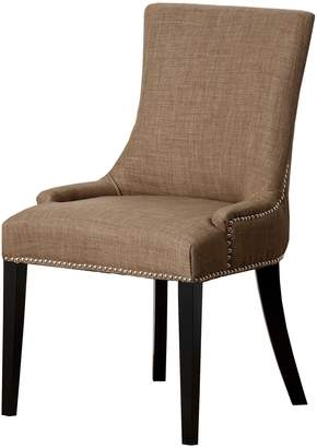Abbyson Living Kandra Gold Linen Nailhead Dining Chair