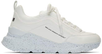 MSGM White College Hiking Sneakers
