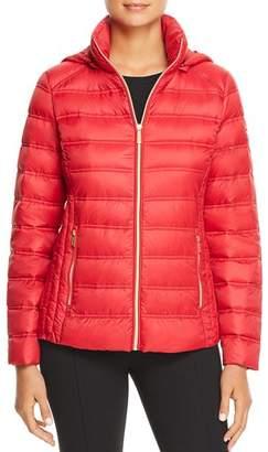 MICHAEL Michael Kors MICHAEL Packable Zip-Front Short Down Coat