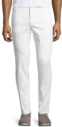 Z Zegna Five-Pocket Solid Stretch-Cotton Denim Jeans