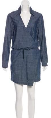 Rag & Bone Chambray Mini Wrap Dress