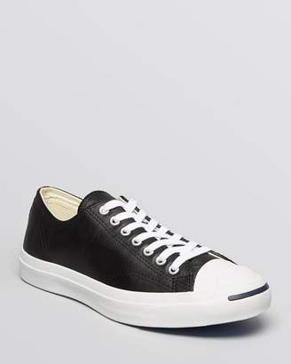 Converse Men's Jack Purcell Leather Lace Up Sneakers