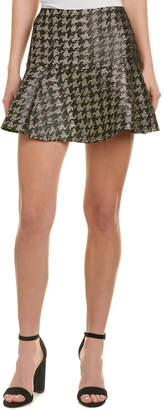 Parker Metallic Wool-Blend Mini Skirt