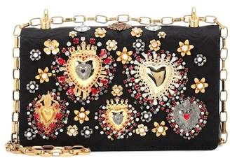 Dolce & Gabbana Embellished jacquard shoulder bag
