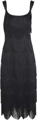 Marc Jacobs Ribbon-strap Fringed Crepe Dress