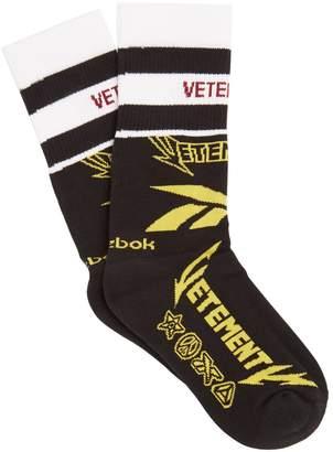 Vetements X Reebok Edition Classic cotton-blend socks