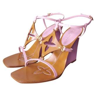 Louis Vuitton Pink Patent leather Sandals