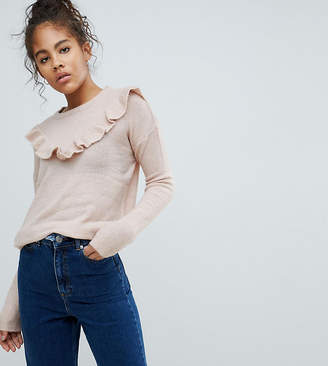 Brave Soul Tall Frill Crew Neck Sweater