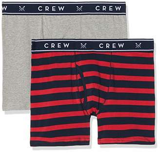 Crew Clothing Men's 2 Pack Wide Stripe Boxers Briefs