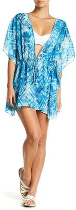 Hawaiian Tropic Sheer Geo Print Caftan