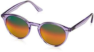 ae1acaff93 Ray-Ban Men s 0rb2180 Non-Polarized Iridium Round Sunglasses 51.6 mm