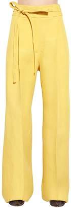 Rochas High Waist Silk Gabardine Pants
