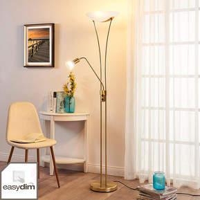 LED-Deckenfluter Felicia mit Lesearm - dimmbar