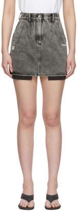 Off-White Black Denim Mini Skirt