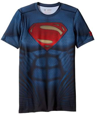 Under Armour Kids Superman Suit Short Sleeve Boy's Short Sleeve Pullover
