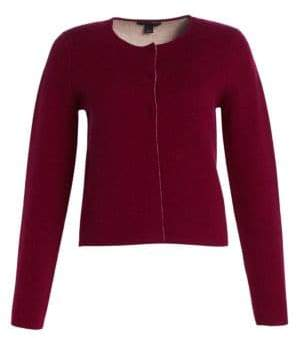 Saks Fifth Avenue COLLECTION Wool& Cashmere Double-Faced Cropped Jacket
