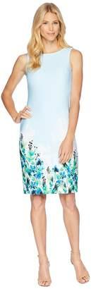Calvin Klein Floral Placement Sheath Dress CD8M61JT Women's Dress