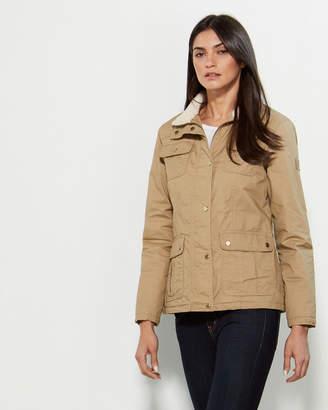 Lauren Ralph Lauren Khaki Faux Fur Collar Jacket