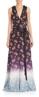 Marc JacobsSleeveless Floral-Print Ribbon Gown
