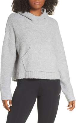 New Balance Boucle Cozy Crop Hoodie