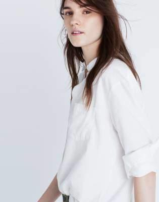 Madewell Drapey Oversized Boyshirt in Pure White