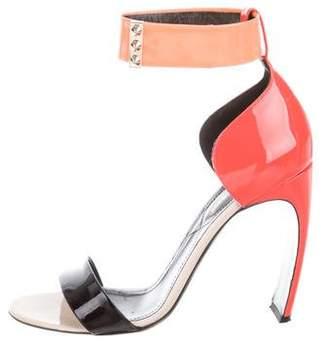 Nicholas Kirkwood Patent Leather Colorblock Sandals