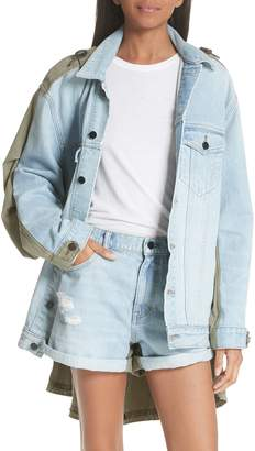 Alexander Wang Daze Mixed Media Denim Jacket