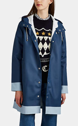 Stutterheim Raincoats Women's Mosebacke Colorblocked Cotton-Blend Raincoat - Blue