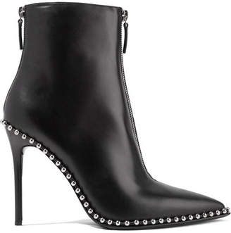 Alexander Wang Eri Studded Leather Ankle Boots - Black
