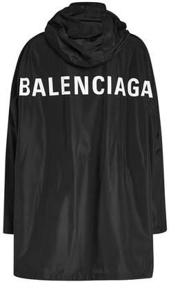 Balenciaga Logo Windbreaker with Hood