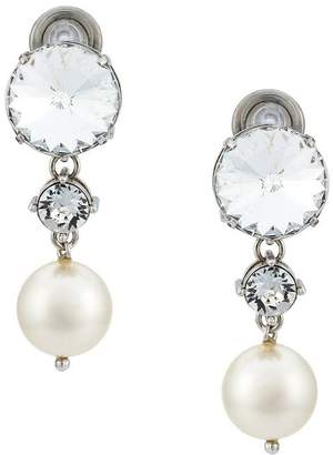 Miu Miu crystal and pearl drop earrings
