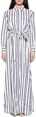 Bagutta White/blue Nmorena Striped Long Dress