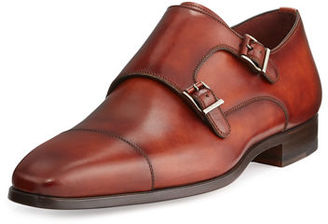 Magnanni for Neiman Marcus Leather Double-Monk Shoe $475 thestylecure.com