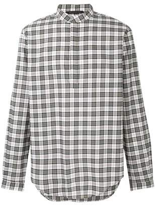 Christopher Kane check velcro shirt