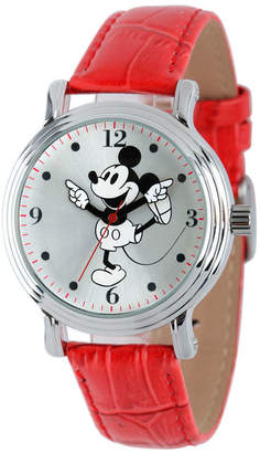 EWatchFactory Disney Mickey Mouse Women Shiny Silver Vintage Alloy Watch