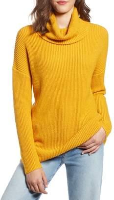 Halogen Oversized Turtleneck Tunic Sweater