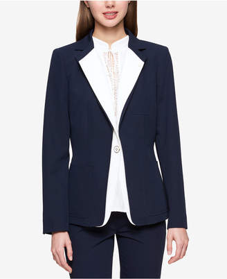 Tommy Hilfiger Double-Layer Colorblocked Blazer